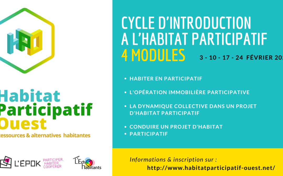 Cycle court de formation à l'habitat participatif
